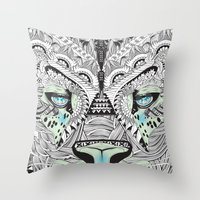 kit king Throw Pillows featuring Kit Mambo by eos vector