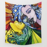 zombie Wall Tapestries featuring Zombie by NZN Art Prints