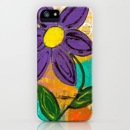 Abstract Purple Flower iPhone Case
