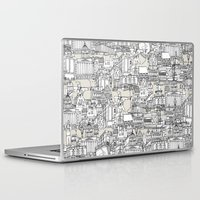champagne Laptop & iPad Skins featuring NOTTINGHAM CHAMPAGNE by Sharon Turner