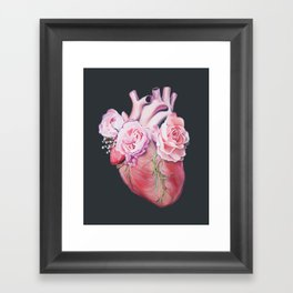 Floral Heart II Anatomy Art Framed Art Print