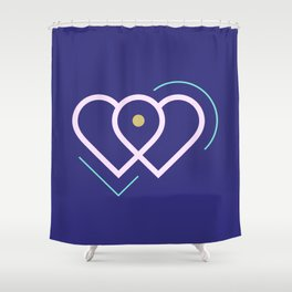 Violet hearts Shower Curtain