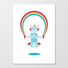 Skipping a Rainbow Canvas Print