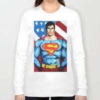 man of steel Long Sleeve T-shirts featuring Man of Steel by Dave Franciosa