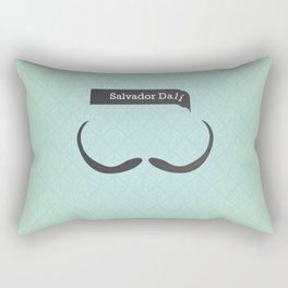 Salvador Dali (Famous mustaches and beards) Rectangular Pillow