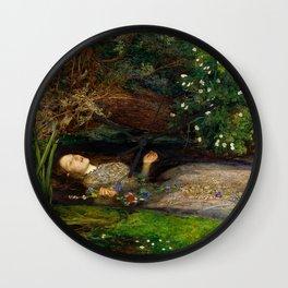 Ophelia - John Everett Millais Wall Clock
