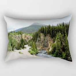 Crossing the Animas River to the Mayflower Mine Rectangular Pillow