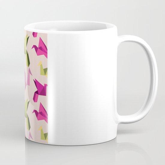 pink paper cranes Mug