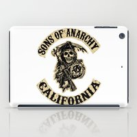 sons of anarchy iPad Cases featuring Sons of anarchy Motorcycle club by OverClocked