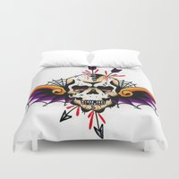 tatoo Duvet Covers featuring Tatoo ART 7 by The Greedy Fox