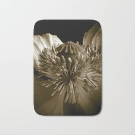 Sepia Poppy Portrait Bath Mat