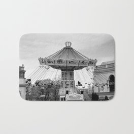 Carousel black and white #carousel #blackandwhite Bath Mat