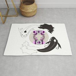 Yin and Yang (with ornamentation) Rug