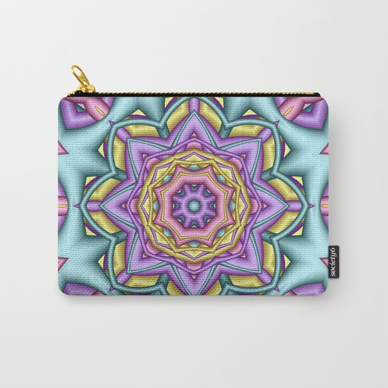 Pastel floral fantasy kaleidoscope Carry-All Pouch