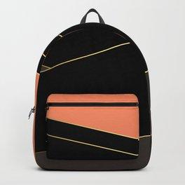 Angelica . Coral , black , brown Backpack