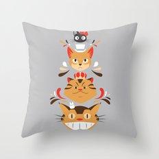 Studio Kitty Throw Pillow