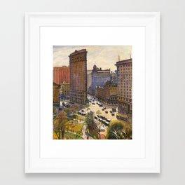 The Flatiron Building by Samuel Halpert, 1919 - NYC Framed Art Print