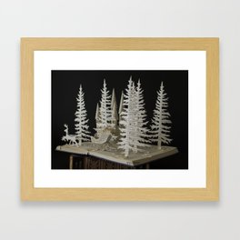 Christmas Theme Book Arts Framed Art Print