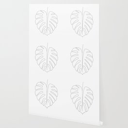 One line monstera Wallpaper