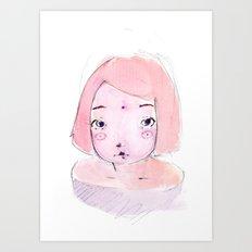 2015 Collection • Pink Girl Art Print