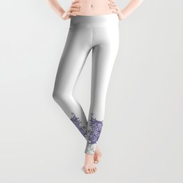 Periwinkle Cancer Ribbon with Butterfly Wings Leggings