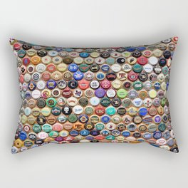 Beer and Ale Bottle Caps Rectangular Pillow