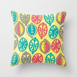 Tribal Pop Throw Pillow