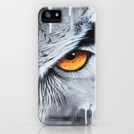 owl eye night vision iPhone Case