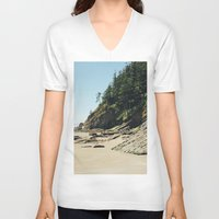 oregon V-neck T-shirts featuring OREGON COAST by Outdoor Bro