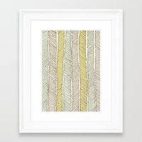 herringbone Framed Art Prints featuring herringbone by wit & whistle