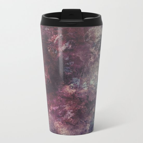 acrylic grunge Metal Travel Mug