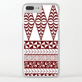 UrbanNesian Tongan Ngatu Clear iPhone Case