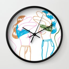 How to be a Girl Wall Clock