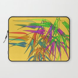 Bamboo Leaves Multycolor on Yellow Board Laptop Sleeve