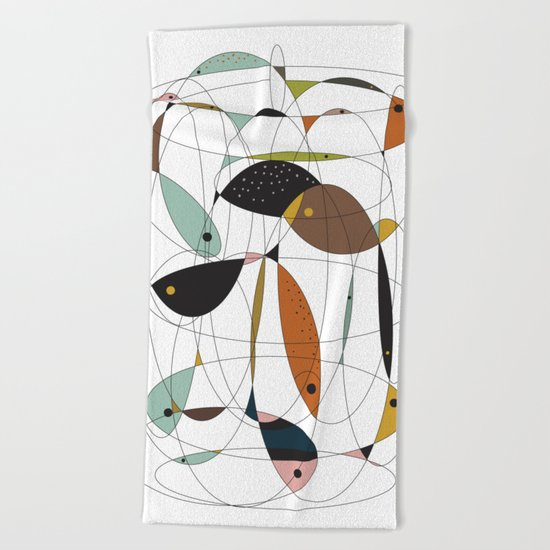 Fishing net Beach Towel