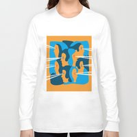 faces Long Sleeve T-shirts featuring Faces by Jonathan Severin