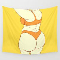 booty Wall Tapestries featuring Mellow by Bloozchicken