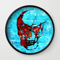 dead space Wall Clocks featuring Dead Space II by Fimbis
