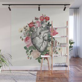 Roses for her Heart Wall Mural