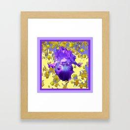 Colorful Amethyst Purple Iris  Daffodil CreamyArt Framed Art Print