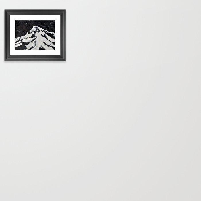 Mount Hood and Stars Framed Art Print