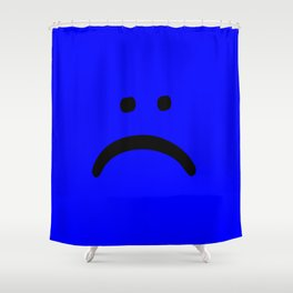 sad face anxiety awareness Shower Curtain