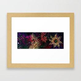 Henna Mehndi Colorful print Framed Art Print