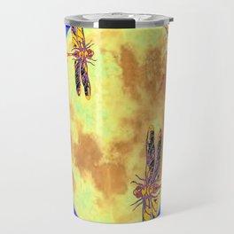 Golden Dragonflies Love Moon Light Travel Mug