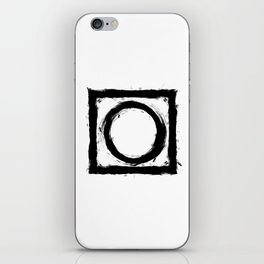 Black and white shapes splatter iPhone Skin
