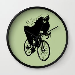 Honeybadger does care, about his health. Wall Clock