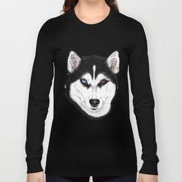 Husky different eyes Long Sleeve T-shirt
