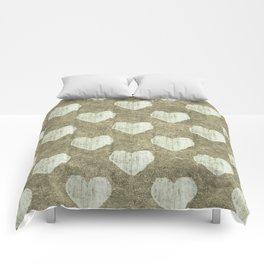 Hearts Motif Pattern Comforters