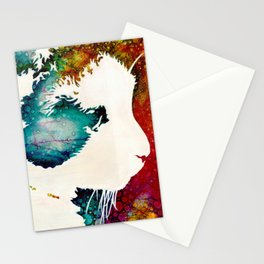 """""""The Lion The Beast The Beat""""  Calico Cat Stationery Cards"""