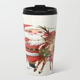Santa and reindeer Travel Mug